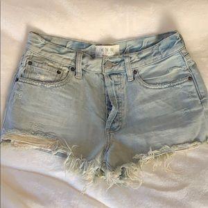 Free People light wash denim shorts